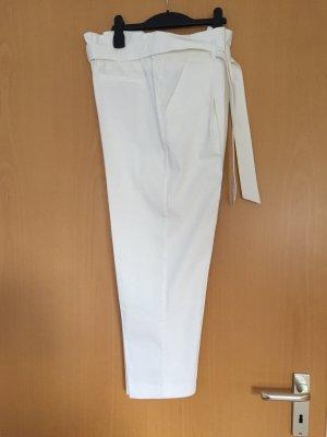 Opus Pantalone culotte beige chiaro-bianco