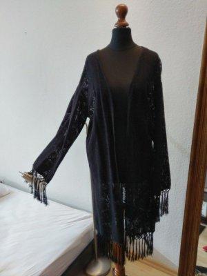 Pinky Long Jacket black cotton