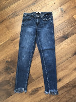 Zara Basic Jeans a 7/8 blu fiordaliso