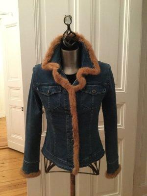 Denim Jacket light brown-dark blue