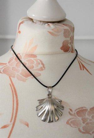 Silver Chain black-silver-colored mixture fibre