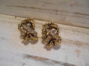 wunderschöne kleine Ohrclips gold geschwärzt