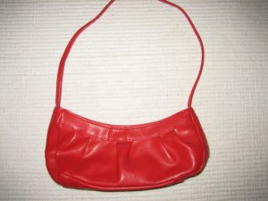Carry Bag red imitation leather