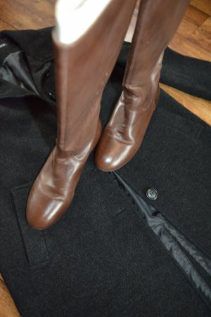 Wunderschöne kniehohe braune Echt-Lederstiefel Gr.40 Buffalo
