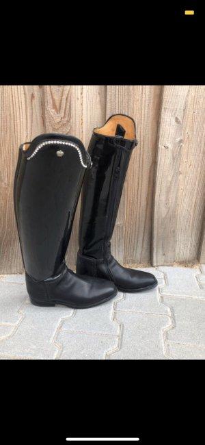 Botas de equitación negro-color plata