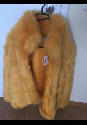 Nelly Trend Fake Fur Jacket yellow-orange
