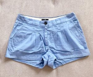 H&M Pantalone corto azzurro-rosso
