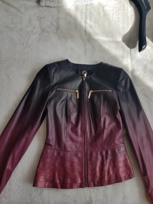 & other stories Leather Jacket black-bordeaux