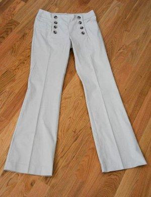 H&M Pantalon à pinces blanc cassé-beige clair