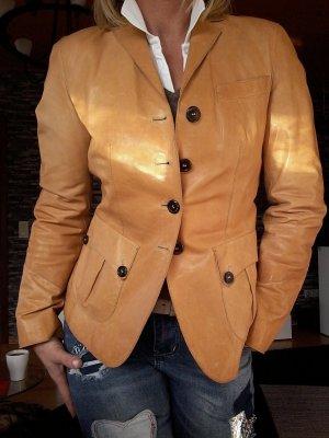 Hugo Boss Leather Blazer camel leather