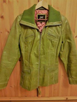 Wunderschöne Lederjacke von Gipsy in Grün. Ein echte Hingucker! Gr. 40-42