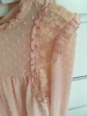 Wunderschöne leichte Bluse von Zara in Rosé XS