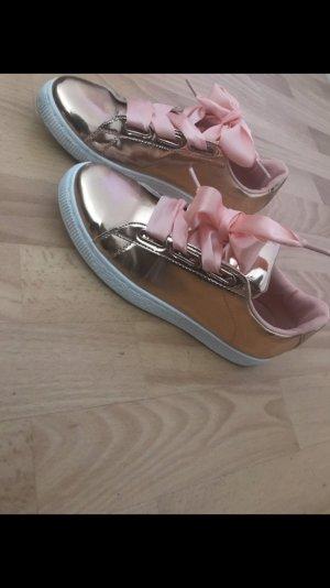 Wunderschöne metallic Schuhe Schleife