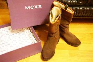 Mexx Botas de invierno marrón arena Gamuza