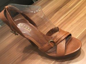 Ralph Lauren Strapped pumps brown