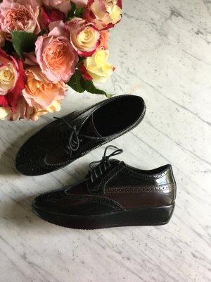 Wunderschöne neue Lederschuhe von Tods Hogan in Gr 37 in schwarz weinrot