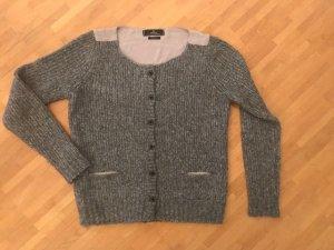 Replay Veste en tricot gris laine