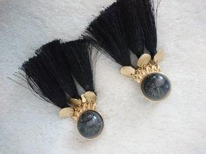 Asos Boucle d'oreille noir-doré