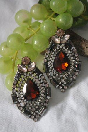 wunderschöne Ohrringe aus Paris * Art Deco Stil * Kristalle * Strass * NEU