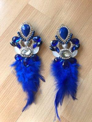 Pendientes de clip azul