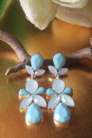 wunderschöne Ohrringe * Chandeliers * Türkis / Hellblau * nie getragen * NEU *