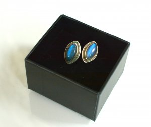 Ear stud silver-colored-azure