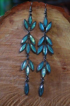 wunderschöne Ohrringe * Kristalle * tolle Farbe * nie getragen *