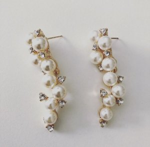 Pearl Earring white-gold-colored