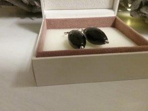 Wunderschöne  Ohrringe  Silber 925 mit schwarzem  Onyx- echte Edelstein!!!