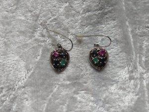 Wunderschöne Ohrringe, Silber und vier Halbedelsteine!