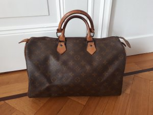 Louis Vuitton Handbag dark brown-brown leather