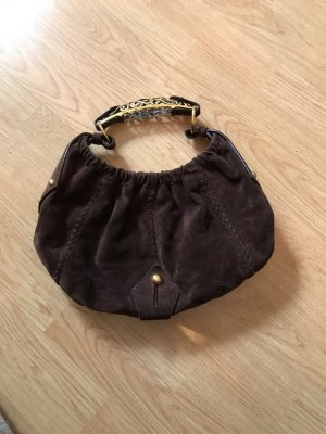 Yves Saint Laurent Carry Bag brown suede