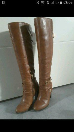 Wunderschöne Overknee Stiefel in Cognacbraun