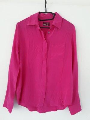Wunderschöne  Pink-Bluse aus 100% Seide, Gr. 40