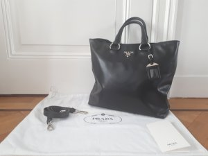 Prada Carry Bag black leather