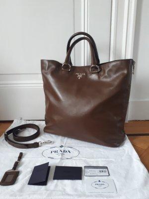 Prada Handbag dark brown leather