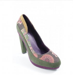 Desigual High Heels multicolored suede