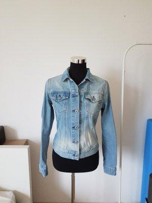 Replay Veste en jean bleu azur coton