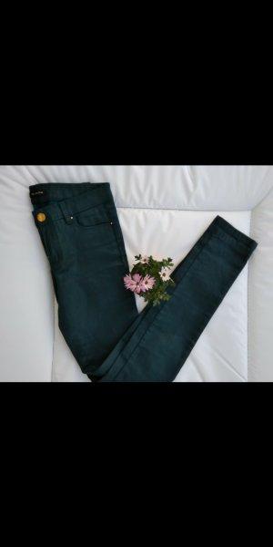 Massimo Dutti Drainpipe Trousers petrol-cadet blue