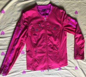 Jack & Jones College Jacket magenta-raspberry-red cotton
