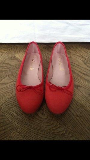 Wunderschöne rote/lachsfarbene ballerinas