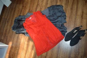 Ruche blouse rood