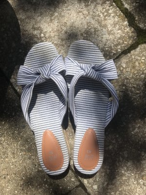 Hennes Collection by H&M Sandalo con plateau bianco-blu fiordaliso