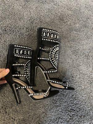 Public Desire Roman Sandals black