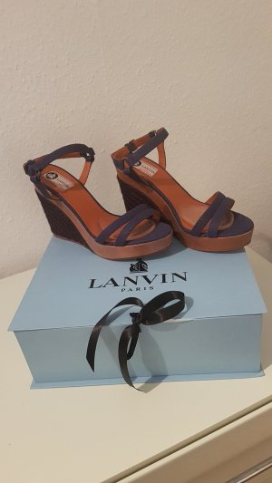 Lanvin High-Heeled Sandals brown-dark blue