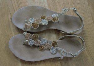 wunderschöne Sandaletten Sandalen Gr. 37 Belmondo Strass