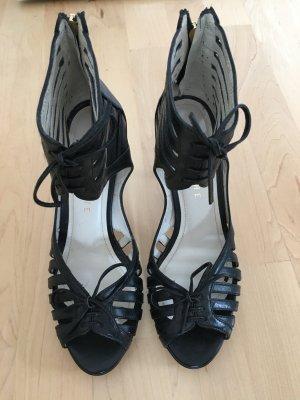 High Heel Sandal black leather