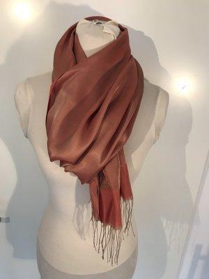 Sjaal zalm-donkerrood