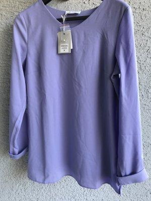 """Wunderschöne Schlupf Bluse Shirt von Judith Williams Neu Gr. 38 M lavendel wunderschönes Blusen Shirt von Judith Williams neu mit V-Ausschnitt Basic-Schlupfbluse """"lavendel"""" Gr. 38 Material: Chiffon: 100% Polyester Jersey: 95% Viskose, 5% Elasthan"""