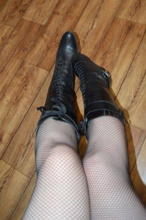 la belle Botas con cordones negro